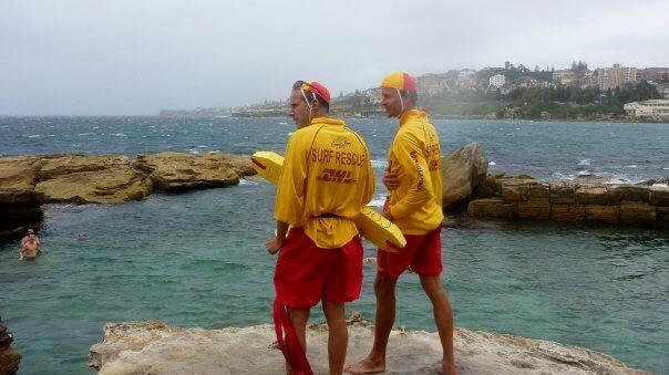 Sauveteurs à coogee beach sydney